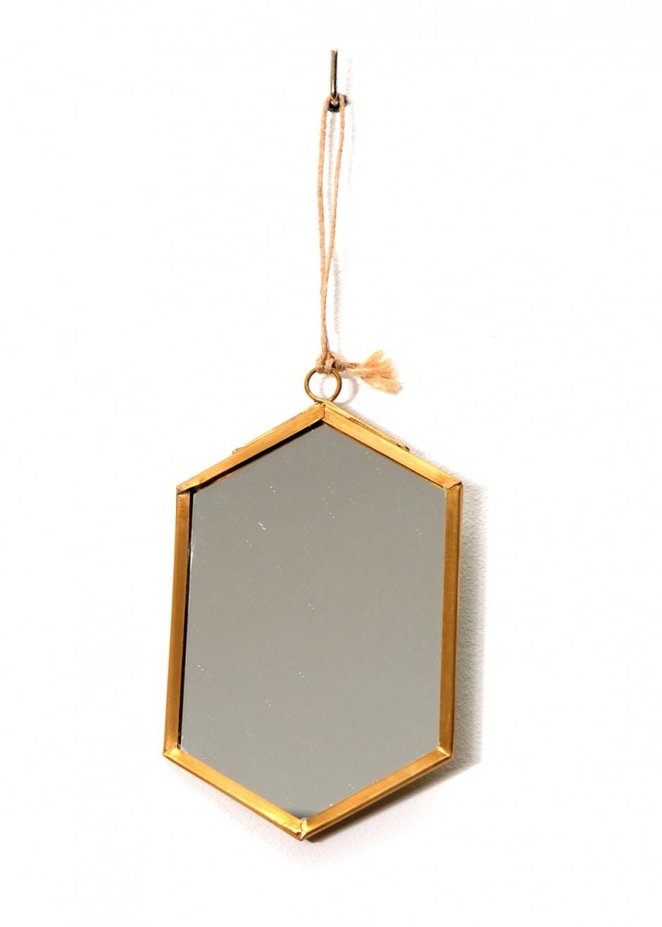 miroir mini hexagonal d co baobab d co baobab. Black Bedroom Furniture Sets. Home Design Ideas